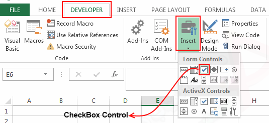 Insert-a-Checkbox-in-Excel