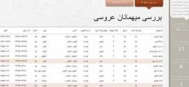 نرم افزار مدیریت مهمانان عروسی